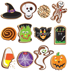 cute halloween cookies clipart vector image vector image