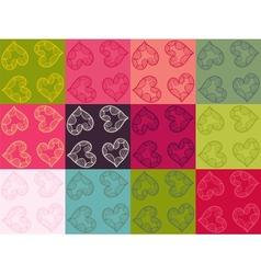 Valentine seamless pattern set vector image