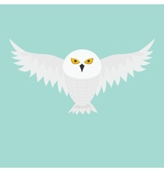 White Snowy owl Flying bird with big wings vector image vector image