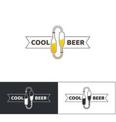 Beer logo two vector