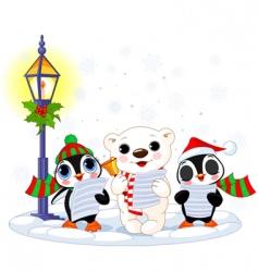 Christmas caroler vector image