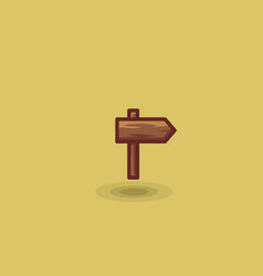 icon one wooden path sign to right isolated vector image vector image