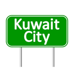 Kuwait city road sign vector