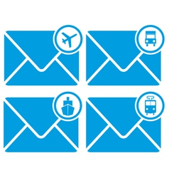 mail transportation vector image vector image