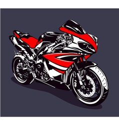 Red sport motorbike vector image