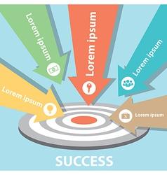 Target Arrow success Business vector image vector image