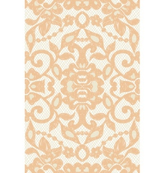 beautiful floral beige lace vector image vector image