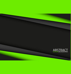black and green modern material design abstract vector image vector image