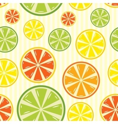 seamless background with lemon lime orange and vector image vector image