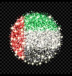 united arab emirates flag sparkling badge vector image