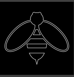 bee the white path icon vector image vector image