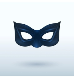 Black leather mask for superhero vector