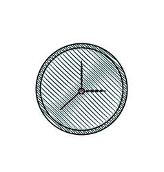 clock watch time element vector image vector image