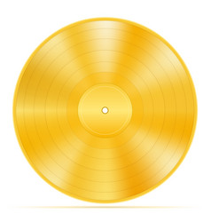 gold vinyl disk stock vector image vector image