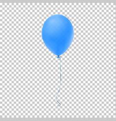 realistic blue balloon vector image vector image