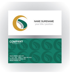 swirl letter g company logobusiness card vector image vector image