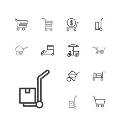 13 cart icons vector