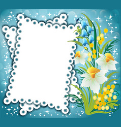 a magical floral background with stars and a vector image