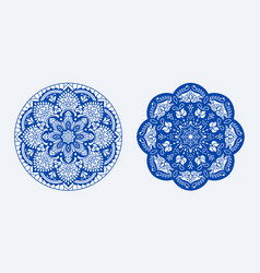 a set mandalas for yoga and meditation vector image