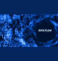 abstract big data visualization blue vector image vector image