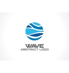 Abstract logo for business company nature ocean vector