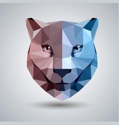 Abstract polygonal tirangle animal cheetah vector