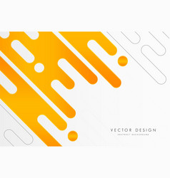 Abstract white yellow rounded shapes background vector