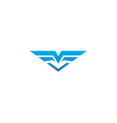 abstract wing fly geometry company logo vector image