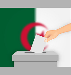 Algeria election banner background ballot box vector