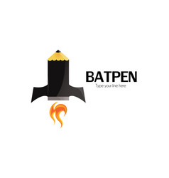 batpen logo vector image