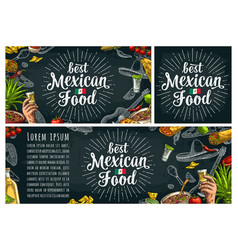 Best mexican food handwriting lettering and vector