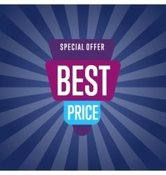 Best price discount sale sticker vector image