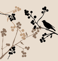 Birds on the branch vector