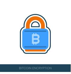 Bitcoin encryption icon vector