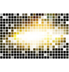 Black yellow white occasional opacity mosaic over vector