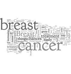 Breast cancer problem faced by women vector