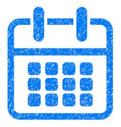 Calendar poster grunge icon vector