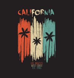 california vintage print vector image