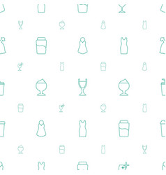 Cocktail icons pattern seamless white background vector