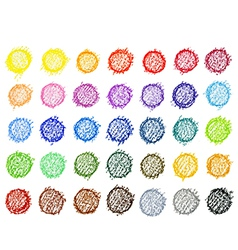 Colorful pallete on white background vector