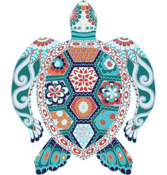 colorful turtle vector image