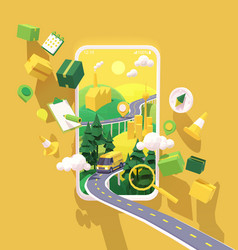 courier delivery service app vector image
