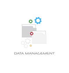 data management content marketing concept white vector image