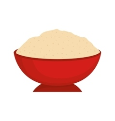 Delicious fresh rice vector image