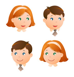 faces children vector image