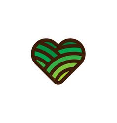 Field love logo icon design vector