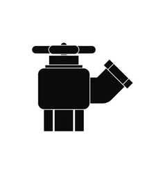 Fire hydrant with valve icon vector