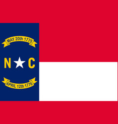 flag north carolina is a state in usa vector image