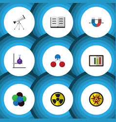 Flat icon knowledge set of lecture irradiation vector