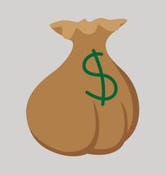 Flat icon on theme arabic business money bag vector